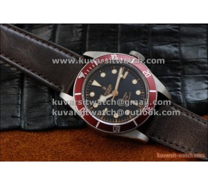 "BEST EDITION TUDOR HERITAGE BLACK BAY ON BROWN LEATHER STRAP.A2824 V2  FROM "" ZF """