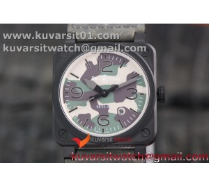 BR 03-92 DLC CASE V3 GREEN CAMOUFLAGE DIAL 42.5MM ON RUBBER STRAP MIYOTA 9015