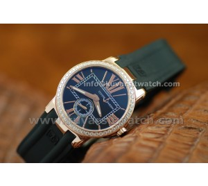 ULYSSE NARDIN EXECUTIVE LADY ROSE GOLD/BLACK DIAMONDS BEZEL