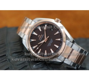 KW 1:1 OMEGA SEAMASTER CO AXIAL AQUA TERRA 150M TWO-TONEW BROWN DIAL