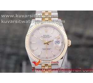 DATEJUST 40MM 18K YG WRAPPED 3A BEST EDITION THIN GRAY DIAL ON NEW VERSION JUBILEE BRACELET
