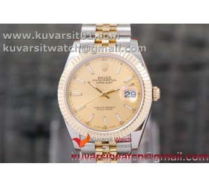 DATEJUST 40MM 18K YG WRAPPED 3A BEST EDITION YELLOW GOLD DIAL ON NEW VERSION JUBILEE BRACELET