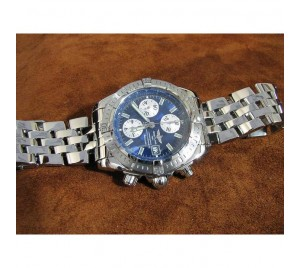 REPLICA BREITLING CHRONOMAT EVOULUTION SS/SS BLUE. V1