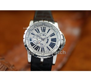 .REPLICA ROGER DUBUIS EASY DIVER EXCALIBUR AUTOMATIC - SS/WHITE
