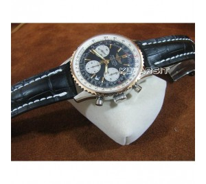 REPLICA NAVITIMER TWO TONE V3.BLACK. 7753 AUTOCHRONO