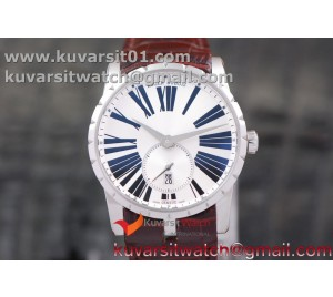 EXCALIBUR DBEX0535 SS RDF 1:1 BEST EDITION WHITE DIAL ON BLUE LEATHER STRAP ASIAN RD830