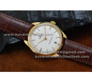 BEST EDITION OMEGA MASTER CO-AXIAL DE VILLE TRESOR 40MM YG/WHITE.A8511 . FROM '' KW ''