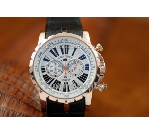 .REPLICA ROGER DUBUIS EASY DIVER EXCALIBUR - RG/WHITE