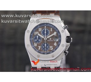 ROYAL OAK OFFSHORE 2018 SIHH JF 1:1 BEST EDITION HAVAN BROWN/BLUE DIAL ON BROWNLEATHER STRAP A7750