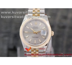 DATEJUST 40MM 18K YG WRAPPED 3A BEST EDITION GRAY DIAL ON NEW VERSION JUBILEE BRACELET