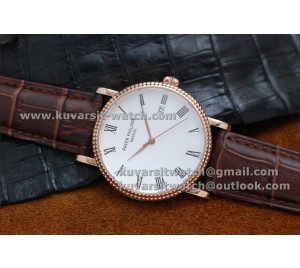 PATEK PHILIPPE CLASSIC 39MM. ROSE GOLD/WHITE .AUTOMATIC