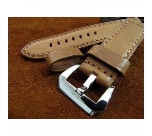 PANERAI PRE-V STYLE 24/24 STRAP. NATURAL TANNED HAMMERED LEATHER