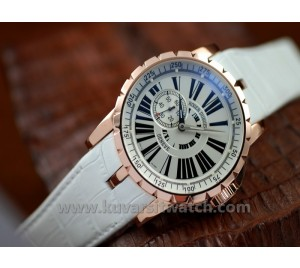 ROGER DUBUIS EXCALIBUR ROSE GOLD WHITE AUTOMATIC