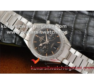 OMEGA SPEEDMASTER MOONWATCH CO-AXIAL '57 SS CHRONO BLACK DIAL SS BRACELET.A9300