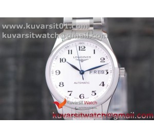 LONGINES MASTER COLLECTION SS LGF 1:1 BEST EDITION WHITE TEXTURED DIAL ON SS BRACELET A2836