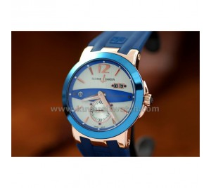 ULYSSE NARDIN NEW EXECUTIVE DUAL TIME GMT ROSE GOLD BLUE