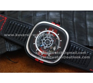 KW SEVENFRIDAY P3-BB LIMITED EDITION 1:1 BEST VERSION WITH MIYOTA 82S7 RED/BLACK