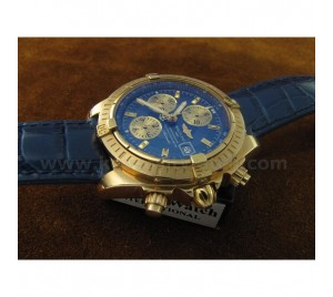 REPLICA BREITLING CHRONOMAT EVOLUTION YG/BLUE AUTOCHRONO 7750. V1