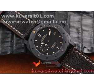PANERAI PAM 508 P REAL CERAMIC ON BLACK DISTRESSED CALFSKIN STRAP SUPER CLONE P.9000 MOVEMENT FROM VSF