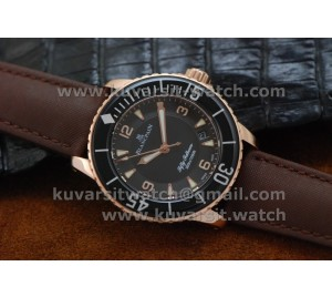 BLANCPAIN FIFTY FATHOMS ROSE GOLD/BLACK DIAL .A1315