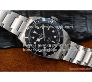 "BEST EDITION TUDOR HERITAGE BLACK BAY SS/SS  BLACK BEZEL BLACK DIAL.A2824.  FROM "" ZF """