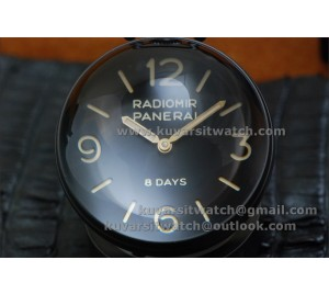 BEST EDITION PANERAI PAM581 TABLE CLOCK PVD 65MM  8 DAYS FROM '' KW ''