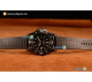 SUPEROCEAN 2824 AUTO BLACK PVD CASE WITH BLACK DIAL AND BLACK RUBBER STRAP - 1:1 ORIGIANL (GF)