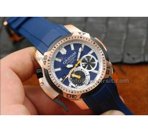GRAHAM CHRONOFIGHTER PRODIVE BLUE/ROSE GOLD 45mm