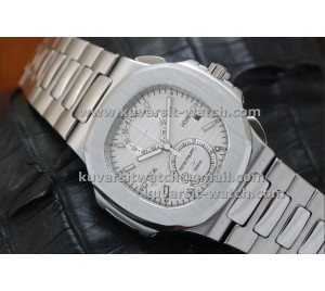 PATEK PHILIPPE NAUTILUS CHRONOGRAPH TRAVEL TIME 5990A WHITE..Q.C