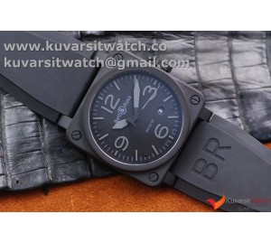 BELL&ROSS BR 03-92 PVD 42MM BLACK DIAL ORANGE MAKERS MIYOTA 9015 .