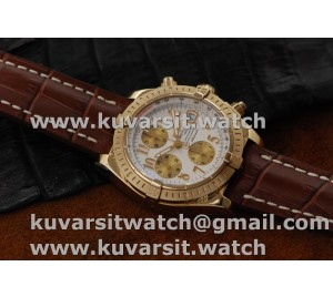 BREITLING CHRONOMAT EVOLUTION RG/LE WHITE NUM A7750