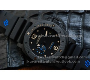 "BEST EDITION PANERAI PAM 616 CARBOTECH  REAL CARBON. SEAGULL ST2555 MOVEMENT !!! FROM "" KW """