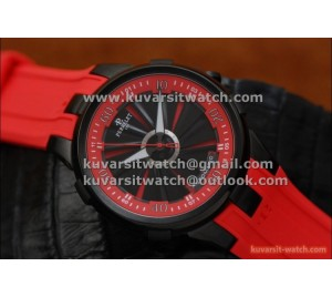 PERRELET TURBINE 44MM PVD BLACK/RED ROTATING DIAL..ASIAN23J MOVEMENT