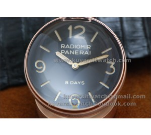 BEST EDITION PANERAI PAM581 TABLE CLOCK ROSE GOLD 65MM 8 DAYS FROM '' KW ''