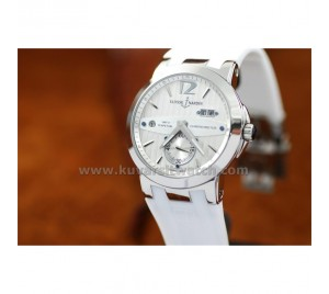 ULYSSE NARDIN NEW EXECUTIVE DUAL TIME GMT ALL WHITE STEEL