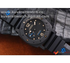 BEST EDITION PANERAI PAM 616 CARBOTECH REAL CARBON. SUPER CLONE P.9000 MOVEMENT FROM VSF