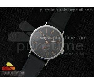Tangente V6F Black Dial Style 2 on Black Leather Strap A23J