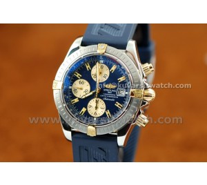 BREITLING CHRONOMAT EVOLUTION BEST GRADE AAA TWO TONE & BLUE COMBO