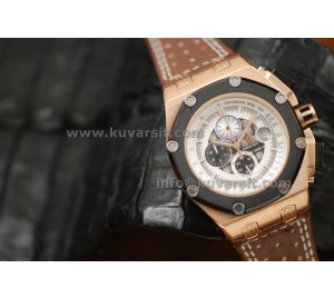 AUDEMARS PIGUET RUBENS BARRICHELLO ROSE GOLD-WHITE DIAL/QC