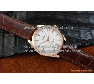 BEST EDITION OMEGA MASTER CO-AXIAL DE VILLE TRESOR 40MM RG/WHITE.A8511 . FROM '' KW ''