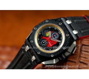 1:1 AUDEMARS PIGUET ROYAL OAK OFFSHORE GRAND PRIX ROSE GOLD-RED ULTIMATE EDT.FORGED CARBON