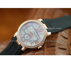 ULYSSE NARDIN EXECUTIVE LADY ROSE GOLD DIAMONDS BEZEL