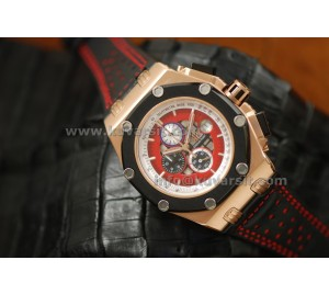 AUDEMARS PIGUET RUBENS BARRICHELLO III ROSE GOLD/QC