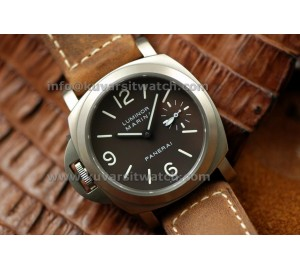 1:1 PANERAI PAM 056C DESTRO TITANIUM TOBACCO BROWN PERFECT CLONED WITH ORIGINAL