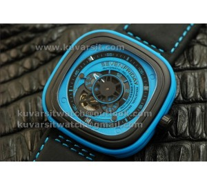 SEVENFRIDAY  P1-4  1:1 BEST VERSION WITH MIYOTA  82S7  BLUE DIAL