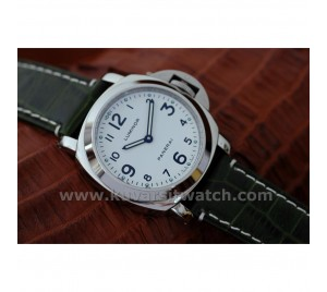 OFFICINE PANERAI PAM 114 WHITE DIAL/GREEN CROCO. ASIAN AUTOMATIC