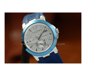 ULYSSE NARDIN NEW EXECUTIVE DUAL TIME & GMT. BLUE STRAP&BEZEL.STEEL