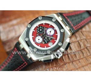 AUDEMARS PIGUET RUBEN BARRICHELLO II RED DIAL SS/QC. SUPER A+
