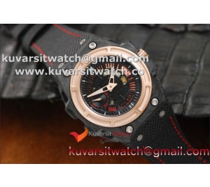 "1:1 LINDE WERDELIN SPIDOLITE TECH II ROSE GOLD  REAL FORGED CARBON FROM "" KW ""  SEAGULL ST2555"
