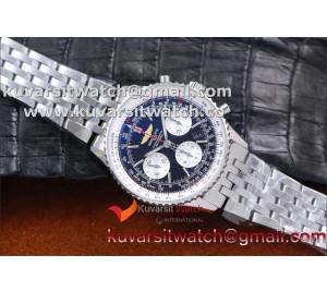 "BREITLING NAVITIMER 01 SS/SS BLACK A7750 AUTOCHRONO 1:1 FROM ""JF"""